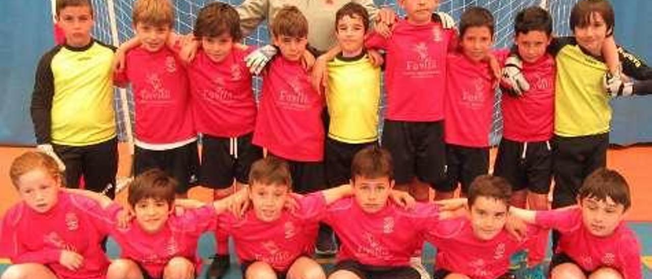 Los componentes del equipo del colegio público Reconquista, de Cangas de Onís.