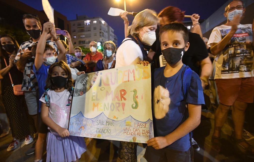 Las imágenes de la movilización en defensa por el Mar Menor en Murcia