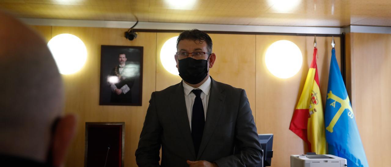 Jaquín Colubi, ayer, en los Juzgados de Avilés