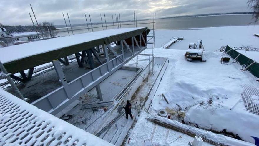 Construir una piscina a veinte grados bajo cero
