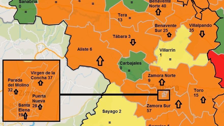 Los casos de coronavirus aumentan en la capital, Benavente y Zamora Sur