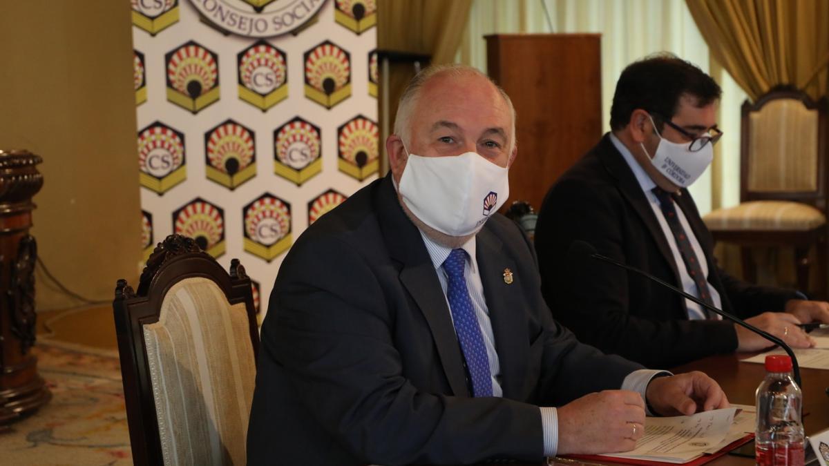 Francisco Muñoz y Fernando Chacón, en la presentación del Plan anual de Actuaciones.