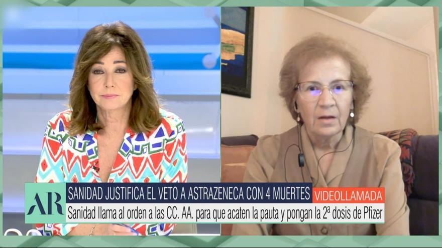 La contundente respuesta de Margarita del Val a Ana Rosa sobre la segunda dosis de AstraZeneca