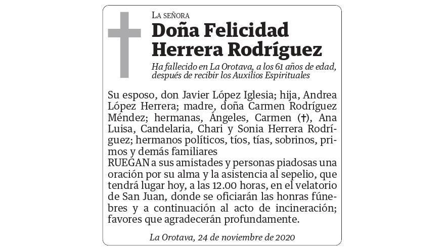 Felicidad Herrera Rodríguez