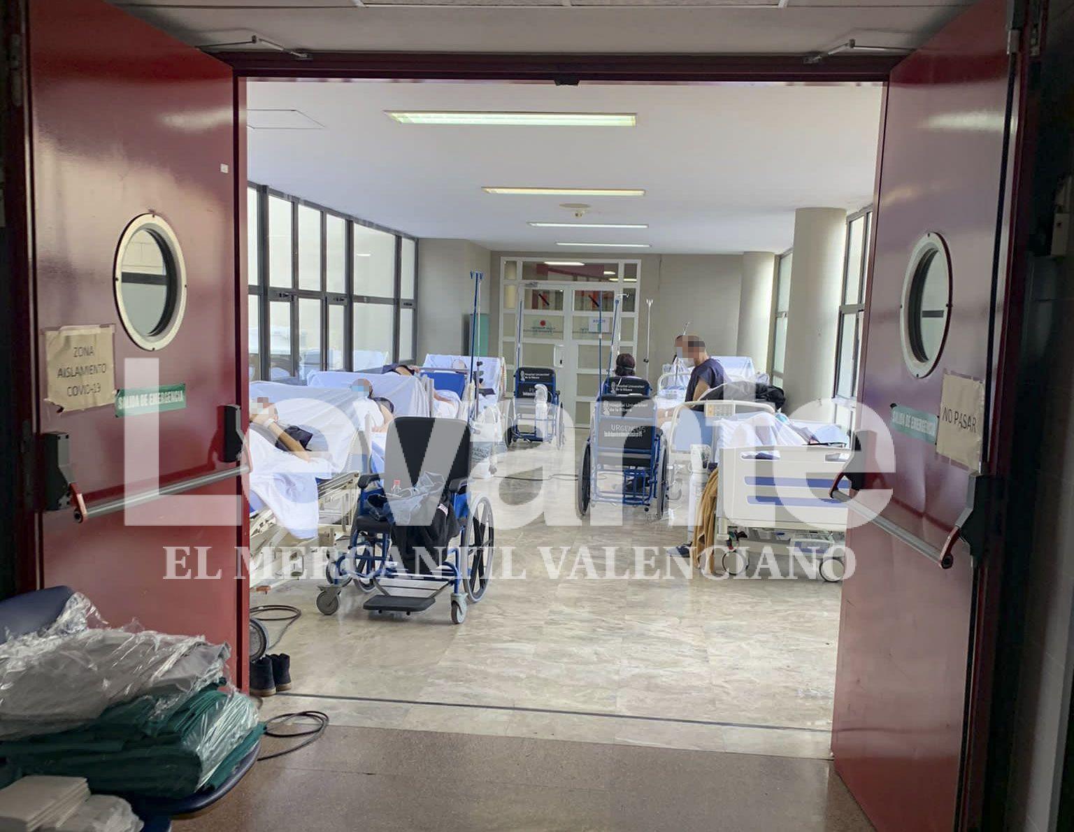 El Hospital de la Ribera, colapsado por la tercera ola de coronavirus