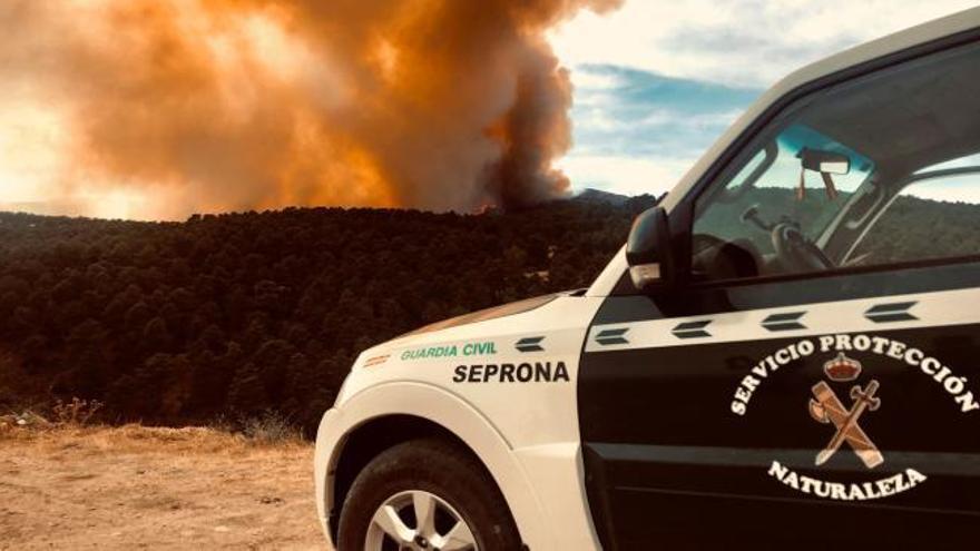 Continúa activo el incendio de Robledo de Chavela pero sin riesgo para la población