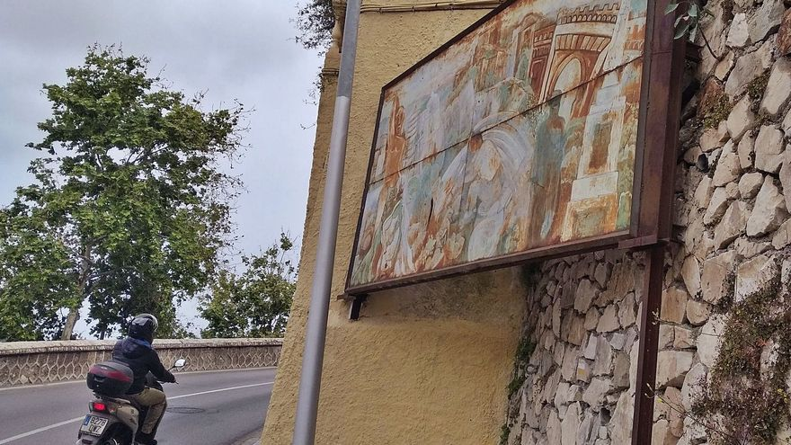 El descolorido homenaje a Málaga en Gibralfaro