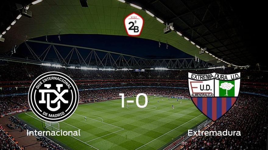 El Internacional consigue la victoria en casa frente al Extremadura UD (1-0)