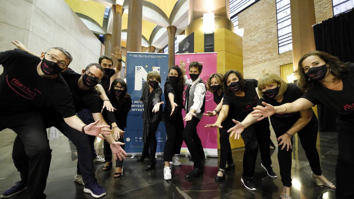 RISArchers en el Auditorio, tras los monólogos del año anterior.