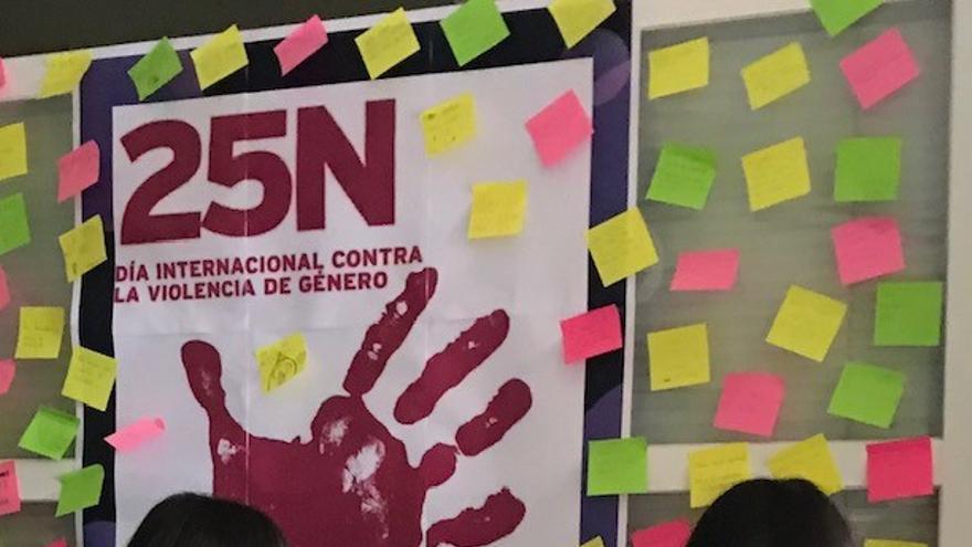 Mensajes de los alumnos de Villalpando contra la violencia de género