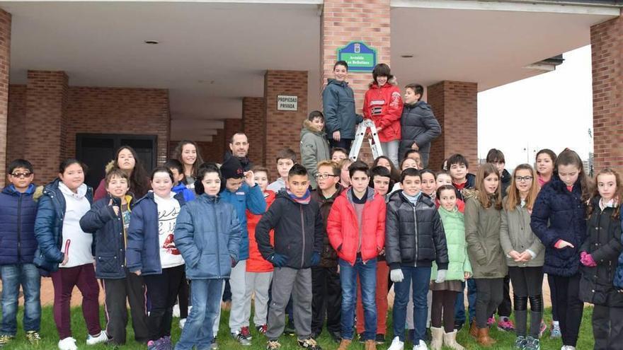 Callejero escolar en Lugones