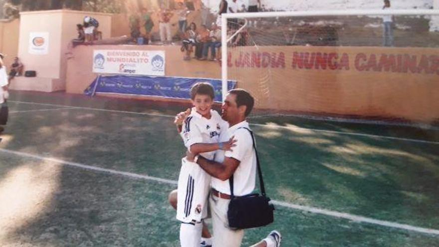 Sergio Reguilón y su padre