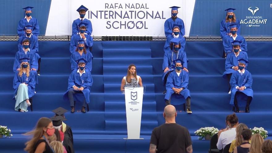 Ona Carbonell preside la graduación de la Rafa Nadal Academy by Movistar
