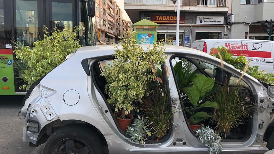 ¿Por qué Elche ha cambiado hoy las plazas de aparcamiento por maceteros?