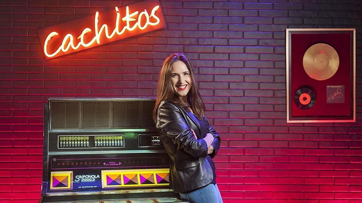 Virginia Díaz, presentadora de «Cachitos de hierro y cromo». | JOSEP ECHABURU