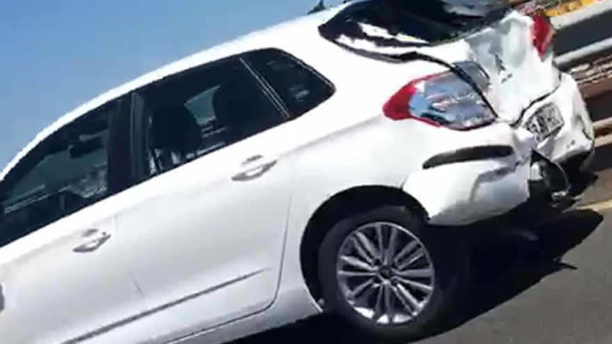 Atasco en la AP-9 por un accidente entre tres vehículos en el puente de Rande