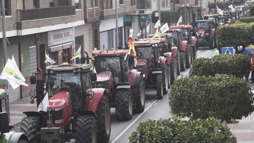 Consulta la ruta de las protestas en tractor contra el recorte del Trasvase en la Región