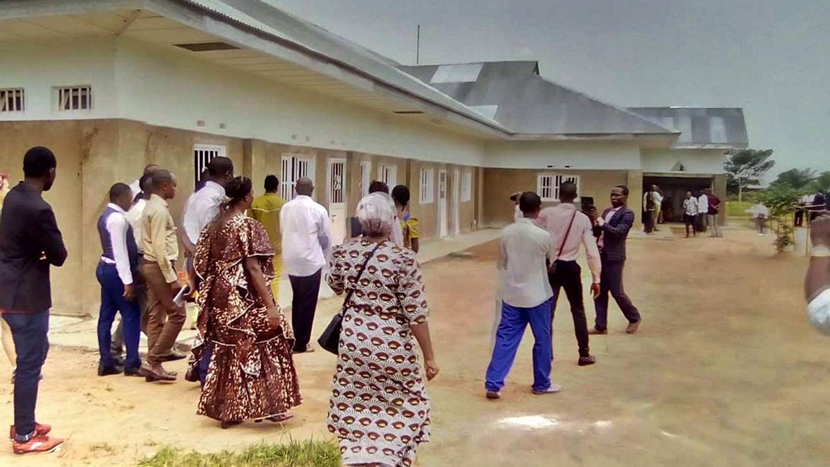 El hospital Nuestra Señora de Guadalupe de Ngandanjika, destino del material donado.                          LEVANTE-EMV