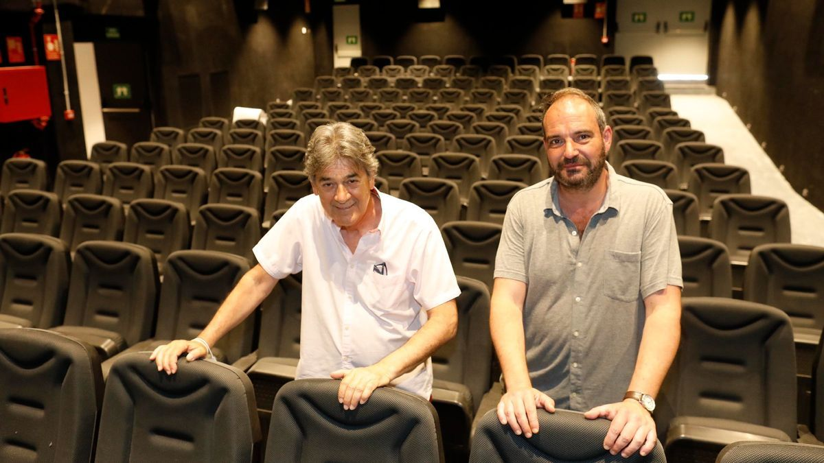 Guillem Terribas (president del Col·lectiu de Crítics de Cinema de Girona) i Carles Ribas (coordinador del Cinema Truffaut)