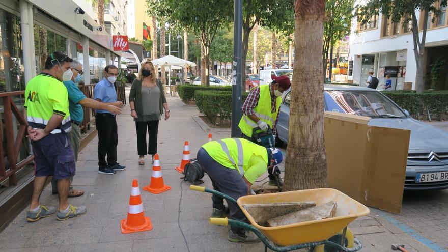 Calp invierte 31.447 euros en las aceras de la calle Corbeta