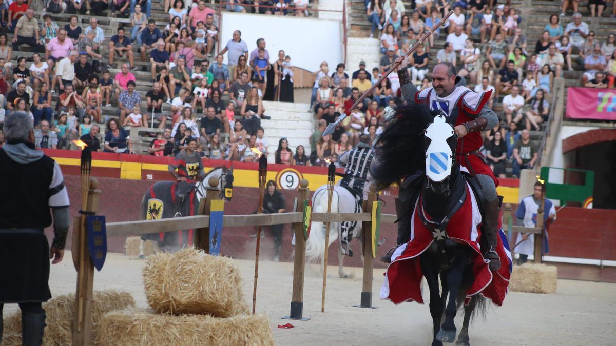 La plaza de toros acogió un espectáculo de justas medievales en septiembre del 2019.