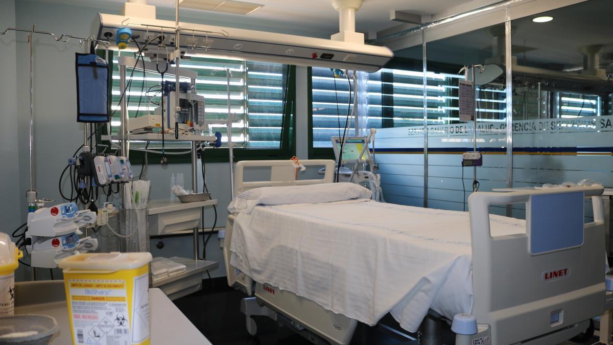 UCI del Hospital Doctor José Molina Orosa que se habilitó dentro del Plan de Contingencia por Covid 19.