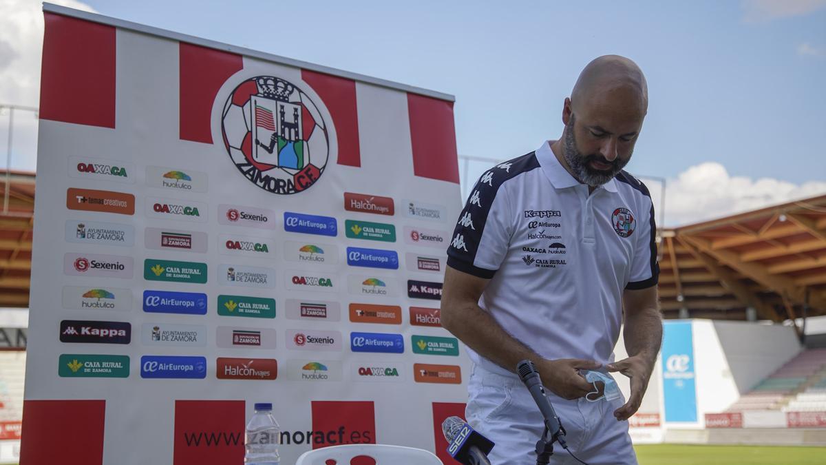 David Movilla, entrenador del Zamora CF