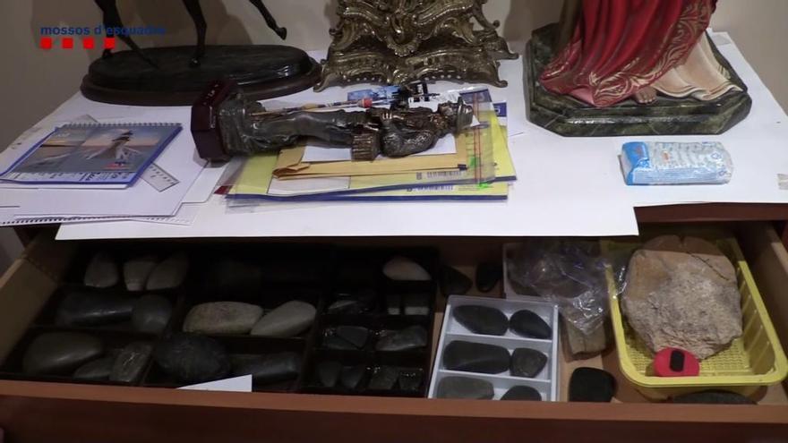 Els Mossos recuperen 393 conjunts arqueològics de jaciments espoliats