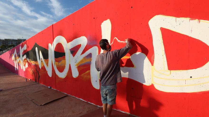 Santa Pola pintará un mural de 30 metros en el Parque Sorolla para concienciar sobre deporte y salud
