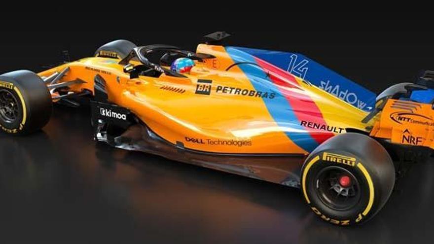 Alonso pilotará un McLaren con un diseño especial