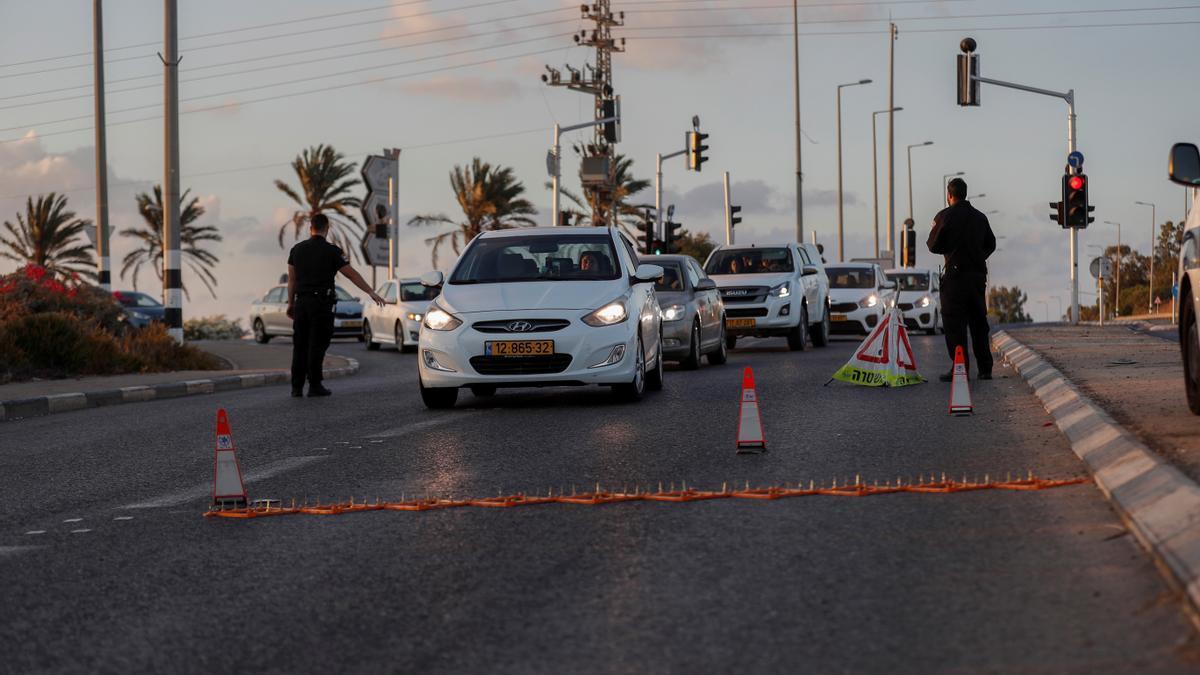 Control policial en Israel.