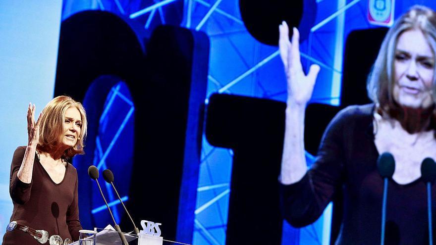 La huella en Oviedo de Gloria Steinem