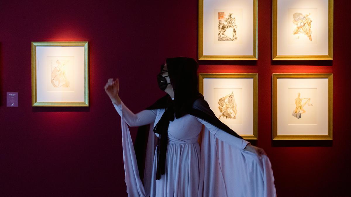 Una de las partes que componen la exposición que Vitoria dedica a Dalí y Dante.