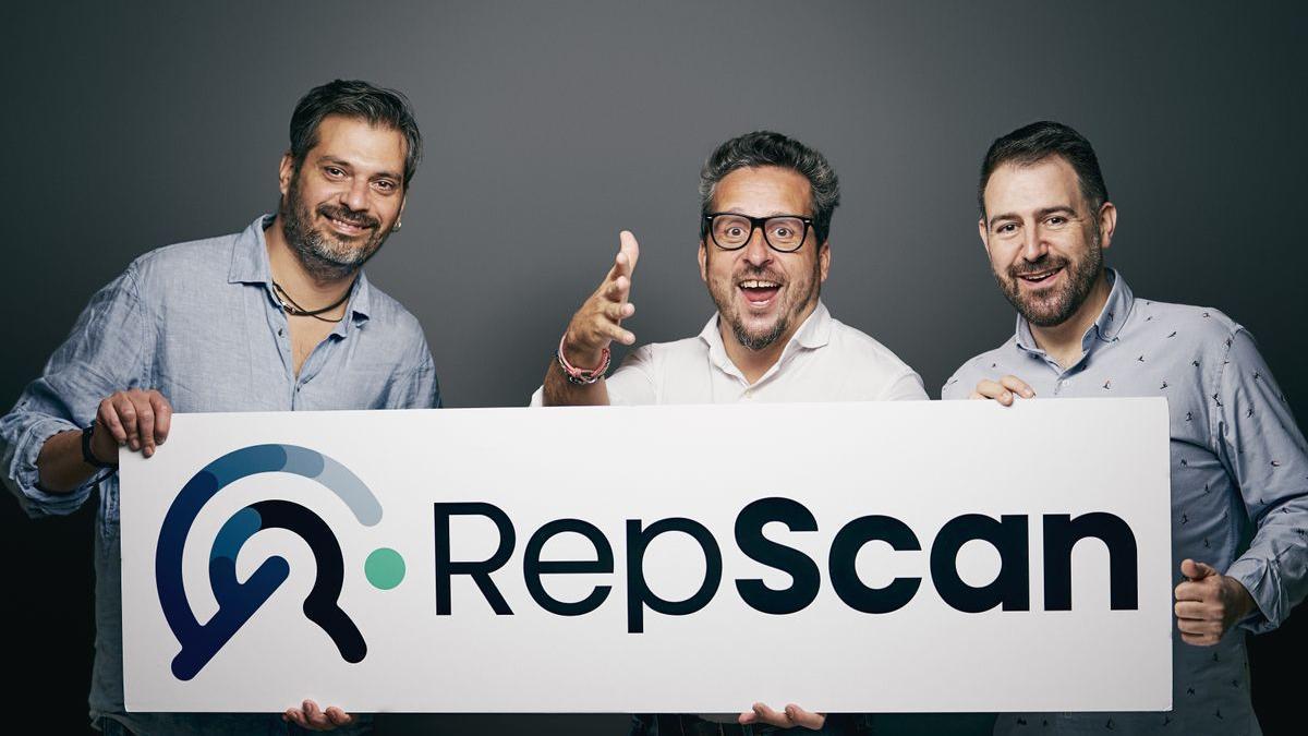 Coque Moreno, Josep Coll y Alejandro Castellano, co fundadores de RepScan.