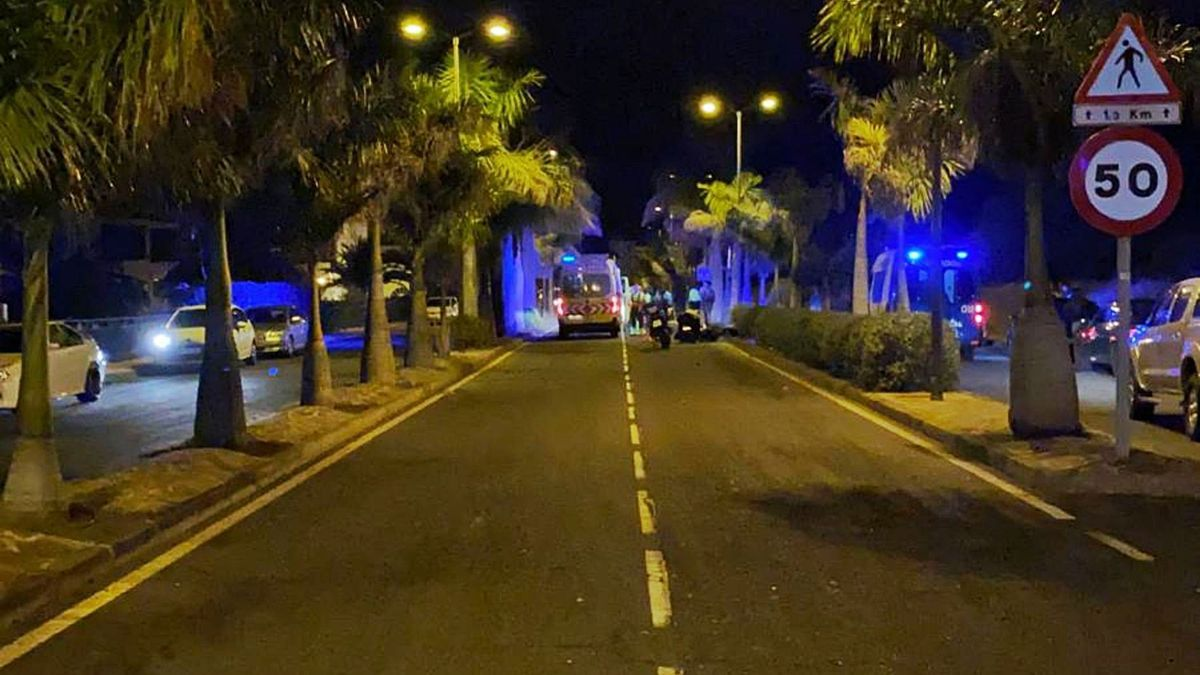 Tramo donde ocurrió el accidente mortal del pasado martes en Valle de Guerra.