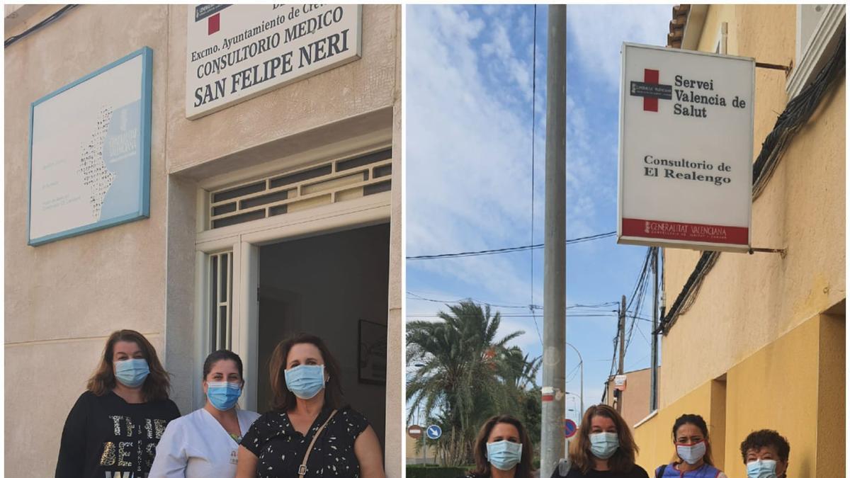 La edil de Sanidad visitando los consultorios de las pedanías.