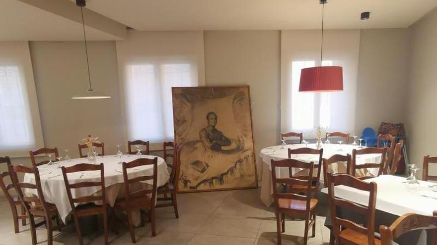 El cuadro, en el restaurante Gabás