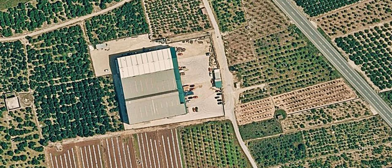 Imagen aérea de las instalaciones en Suelo No Urbanizable.       LEVANTE-EMV