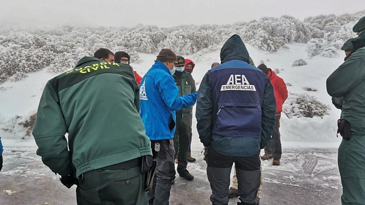 Parte de los grupos que participaron durante estos días en la búsqueda.