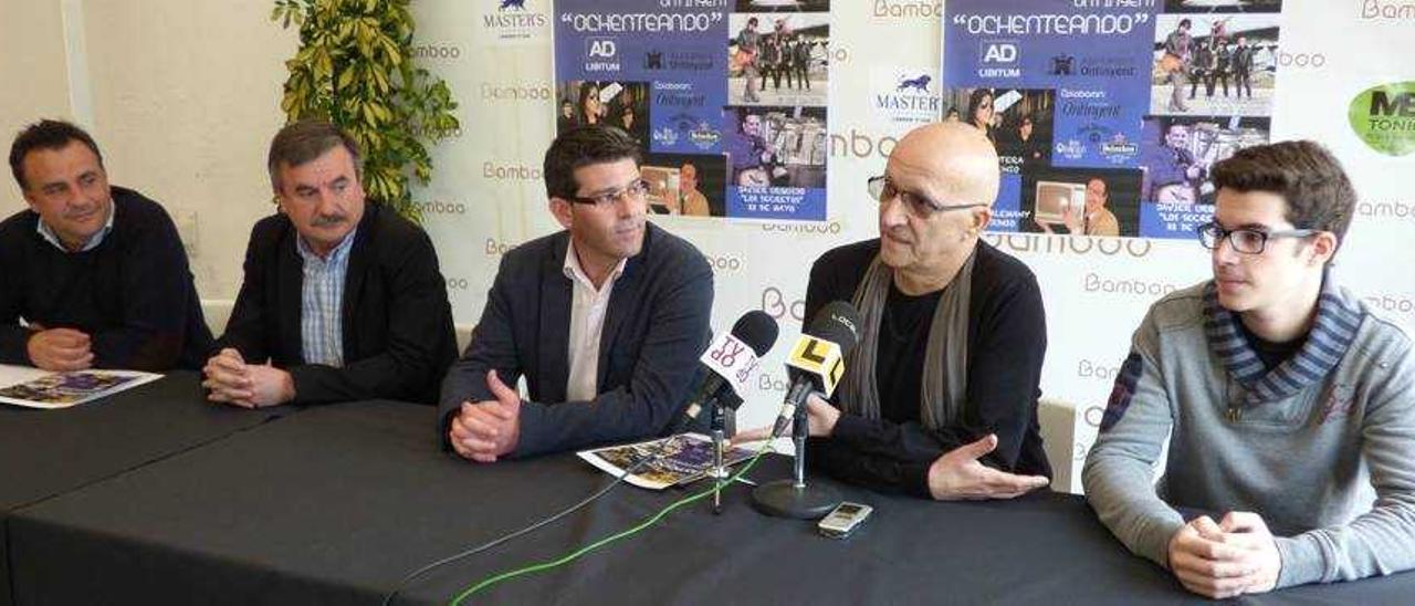 Muñoz, Calabuig, el alcalde Rodríguez y Martínez padre e hijo, ayer en la presentación de la programación.