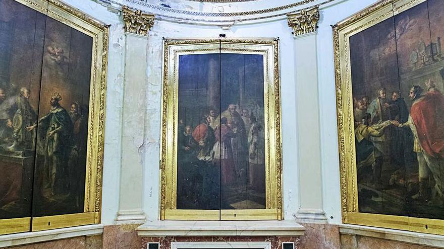 Luz verde a la restauración de las pinturas de la Capilla del Relicario