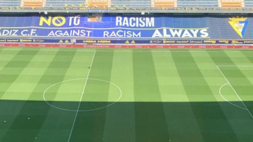El Cádiz, 'contra' el racismo