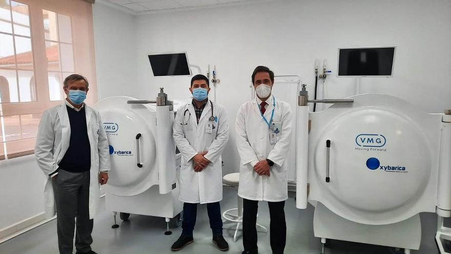 El hospital San Juan de Dios estrena la unidad de Medicina Hiperbárica