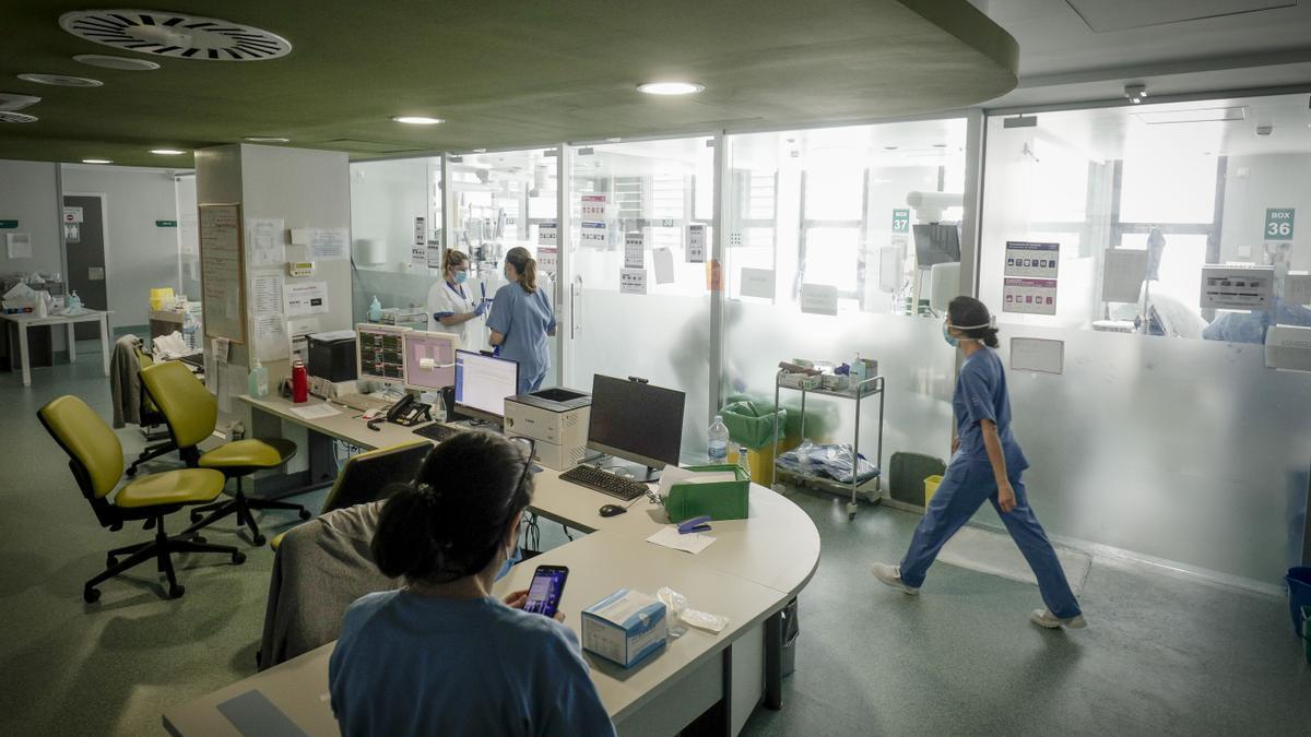 UCI del hospital de Son Espases, en Palma