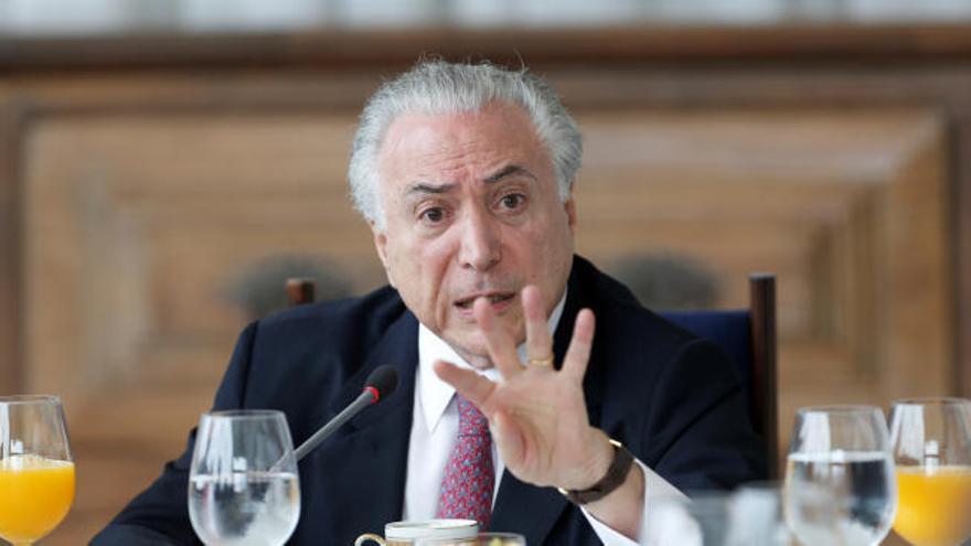El expresidente brasileño Michel Temer, detenido por corrupción