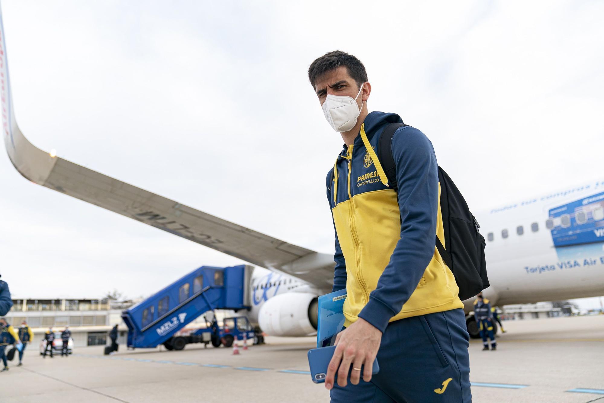 Así ha sido la llegada del Villarreal a Zagreb para jugar la Europa League