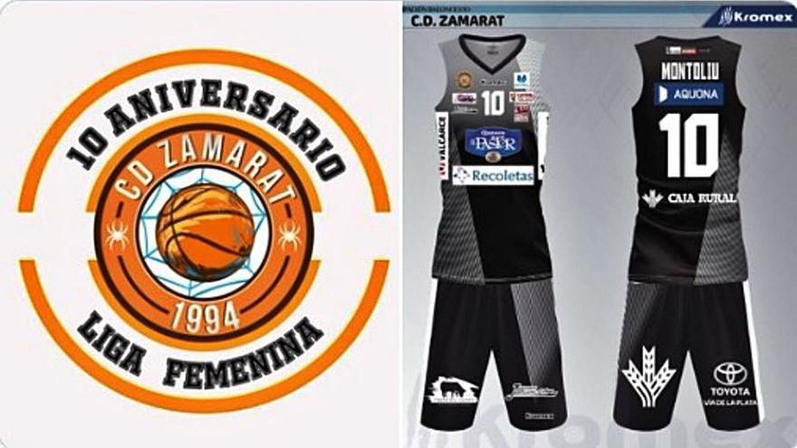 Nuevo logo y estreno de color en la segunda equipación del CD Zamarat - Quesos El Pastor