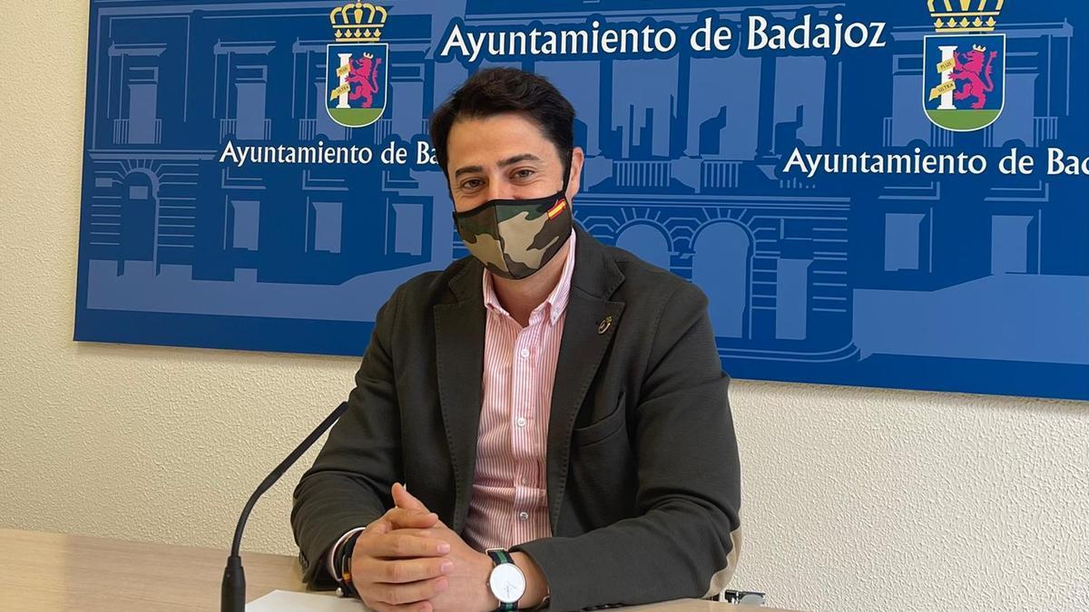 Alejandro Vélez, esta mañana, en su comparecencia.