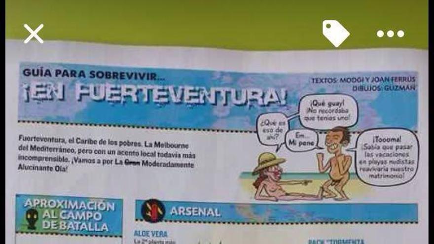 """El Cabildo ve """"insultantes"""" unas páginas de 'El Jueves' dedicadas a Fuerteventura"""