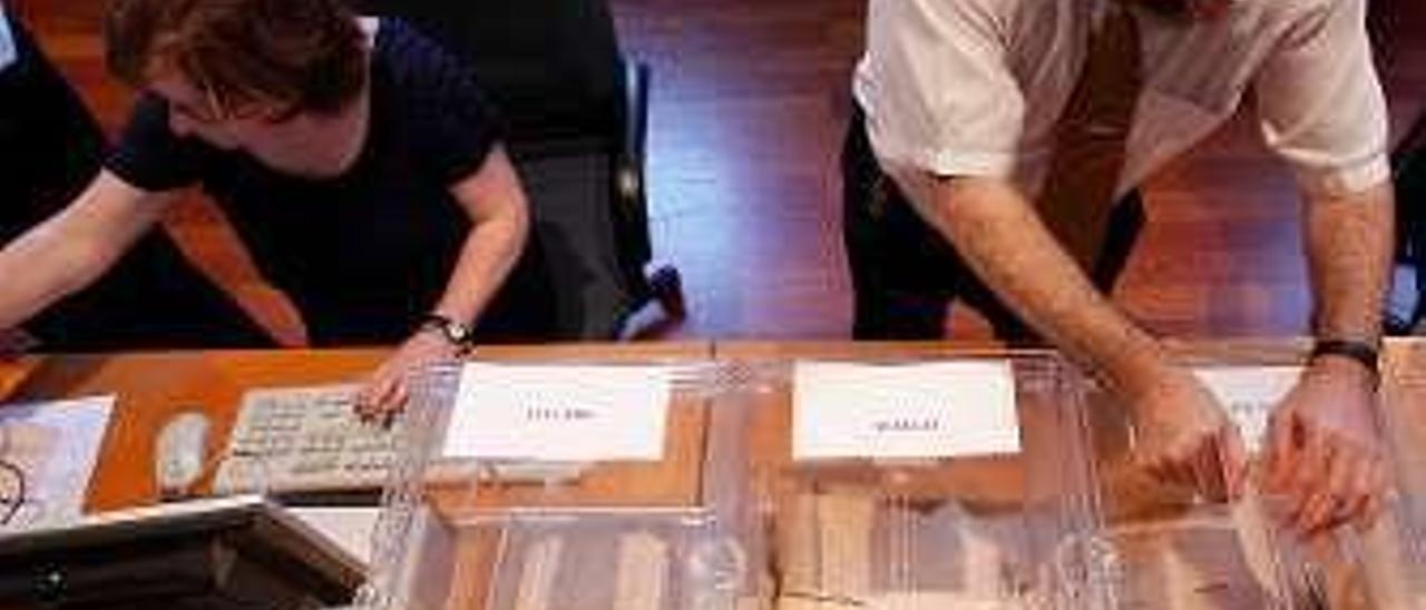 Escrutinio del voto emigrante.